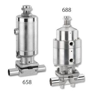 Valvola a membrana asettica GEMÜ 658/688
